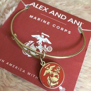 Alex and Ani U.S Marine Corps Charm Bangle